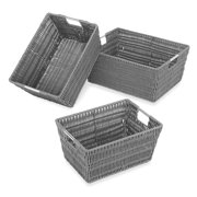 Whitmor Rattique 3 Piece Basket Set