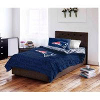 NFL New England Patriots Queen Bed in a Bag Complete Bedding Set