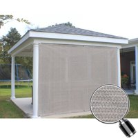 Alion Home Smoke Grey Sun Shade Privacy Panel with Grommets on 2 Sides for Patio, Awning, Window, Pergola or Gazebo  6' x 4'