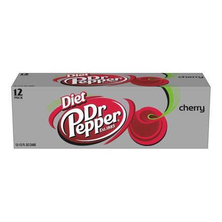 (2 Pack) Diet Dr Pepper Cherry, 12 Fl Oz Cans, 12 Ct ()