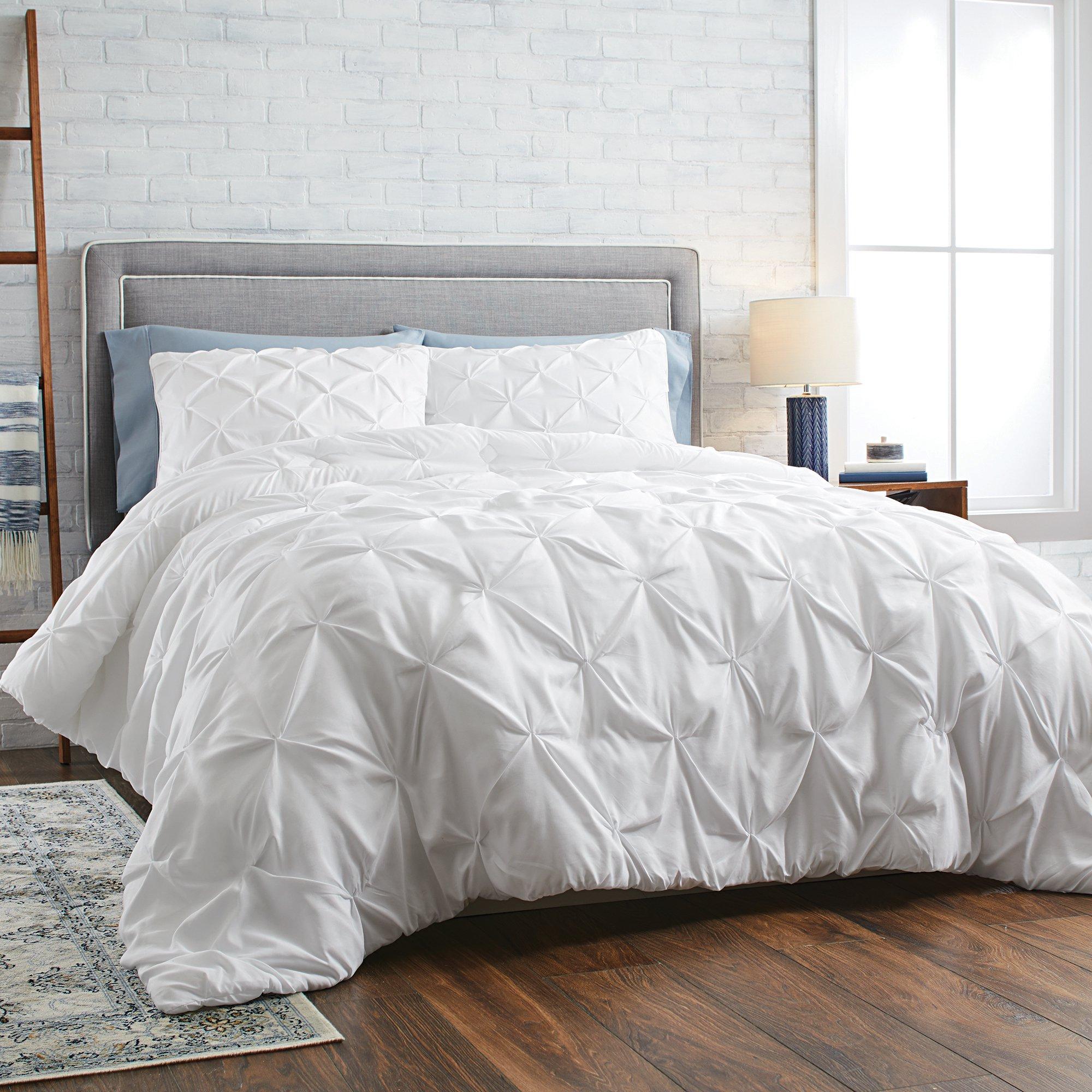 Better Homes & Gardens Full or Queen Pintuck Comforter Set, 3 Piece