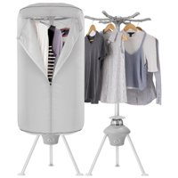 Electric Portable Clothes Dryer - Laundry Drying Rack with High Powered 1000W Heater and Germ Killing UV Light Sanitation - Compact with 22Lb Capacity -Finether