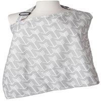 Kids N' Such Nursing Cover with Patented Sewn In Burp Cloth for Breastfeeding Infants - FREE Matching Pouch- Best Apron Cover Up for Breast Feeding Babies - Covers Up Newborns in Public - Grey Arrow