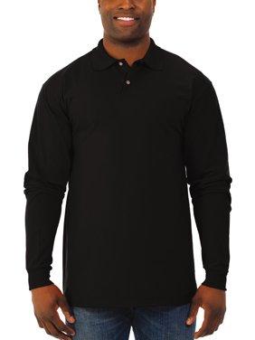 Big Men's SpotShield Long Sleeve Polo Sport Shirt