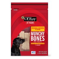 Ol' Roy Munchy Bones Dog Treats, Original Chicken Flavor, 20 oz, 7 Count