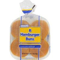 Great Value Hamburger Buns, 11 oz, 8 count