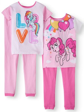 Girls' My Little Pony 4 Piece Pajama Sleep Set (Little Girl & Big Girl)