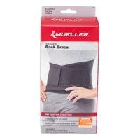 Mueller Adjustable Back Brace, Black, One Size Fits Most