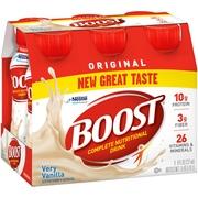 Boost Original Complete Nutritional Drink Vanilla Delight, 8 fl oz Bottles, 6 Count