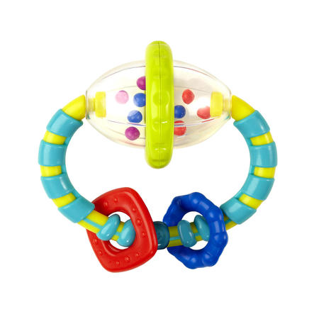 Bright Starts Grab & Spin Rattle Toy ()