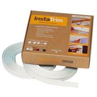 InstaTrim flexible molding trim strips with 2-10ft rolls; white