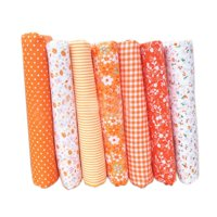 7pcs Cotton Cloth Textile Craft Fabric Bundle Patchwork Fabric DIY Sewing Quilting Floral Pattern