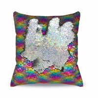 "Mainstays Reversible 17""x17"" Sequin Sparkle Pillow, Available in Multiple Colors"