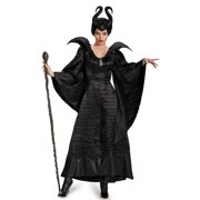 Maleficent Deluxe Christening Black Long Gown Adult Costume