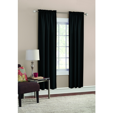 Mainstays Room Darkening Solid Woven Curtain Panel Pair (Jason Window)