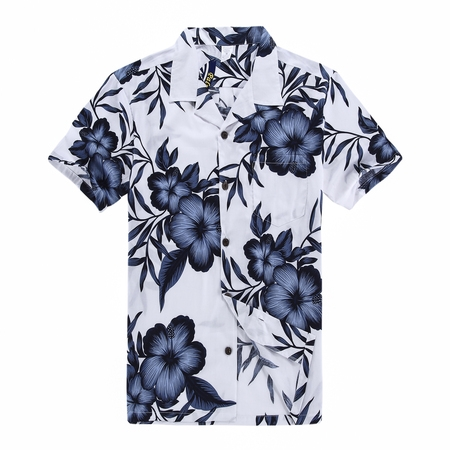 Hawaiian Shirt Aloha Shirt in White Floral