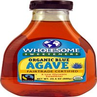 Wholesome Sweeteners Organic raw blue agave, 23.5 Ounce Bottles