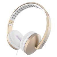 On Ear Headphones with Mic, Jelly Comb Foldable Corded Headphones Wired Headsets with Microphone, Volume Control for Cell Phone, Tablet, PC, Laptop, MP3/4, Video Game (Gold)