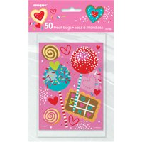 Sweet Valentine Treat Bags, 50-Count