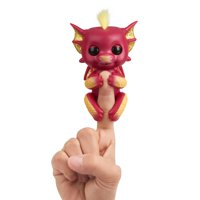 Fingerlings - Interactive Baby Dragon - Ruby (Red & Gold) - Interactive Baby Collectible Pet By WowWee