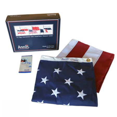 American Flag 3x5 ft. Tough-Tex the Strongest, Longest Lasting Flag , with Sewn Stripes, Embroidered Stars and Brass Grommets. ()