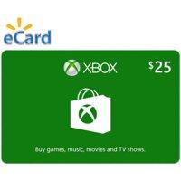 Xbox $25 Gift Card, Microsoft, [Digital Download]