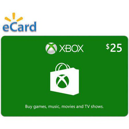 Xbox $25 Gift Card, Microsoft, [Digital Download] (Xbox 65 Dollar Gift Card)