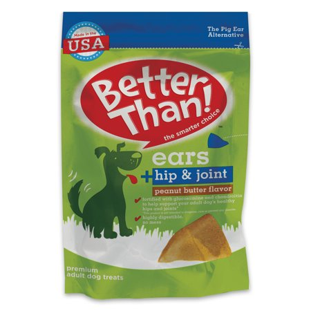 Better Than Ears Peanut Butter Flavor Dog Treats, 31.1oz (36-count)