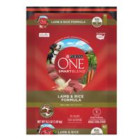 Purina ONE Natural Dry Dog Food; SmartBlend Lamb & Rice Formula - 16.5 lb. Bag