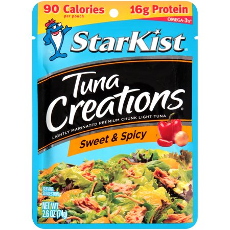 (4 Pack) StarKist Tuna Creations, Sweet & Spicy, 2.6 Ounce Pouch