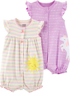 Snap up romper, 2- pack (Baby Girls)