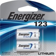 Energizer 123 Lithium Photo Battery, 2-Pack