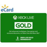 3 Month Xbox Live Gold Membership Email Delivery
