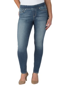 Signature by Levi Strauss & Co. Women's Totally Shaping Pull On Skinny Jeans
