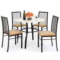 Best Choice Products 5-Piece Faux Marble Top Dining Table and Chairs Set