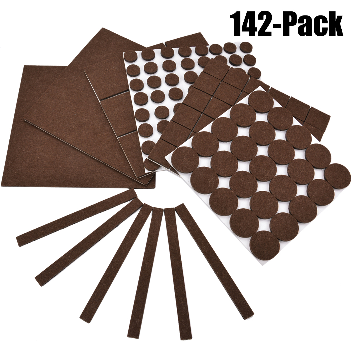 Charmant 142Pcs Self Stick Furniture Felt Pads Heavy Duty Noise Dampening Clear  Rubber Bumpers Floor Scratch