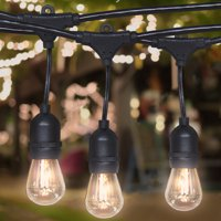 Best Choice Products 48ft Commercial Weatherproof Café String Lights