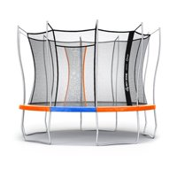 Official Sky Zone x Vuly 12-Foot Trampoline, Self-Closing Door, Orange