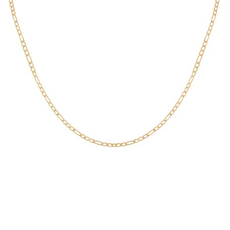 "10K Yellow Gold Figaro Chain, 18"" Necklace"