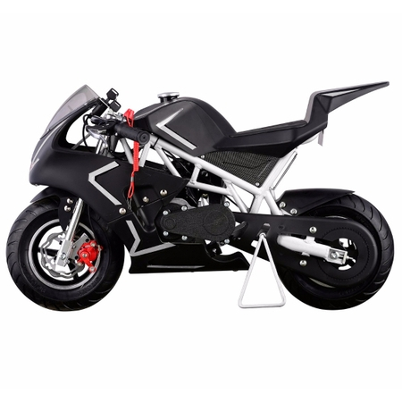 XtremepowerUS 40CC 4-Stroke GAS Pocket Bike MINI Motorcycle EPA, White ()