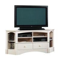 """Sauder Harbor View Corner Entertainment Credenza for TVs up to 60"""", Multiple Finishes"""