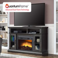 "Whalen Layton Media Fireplace for 65"" TVs up to 135lbs Weathered Ash Finish"
