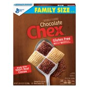 (2 Pack) Chocolate Chex Family Size Breakfast Cereal, 21.1 oz Box