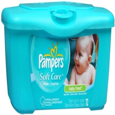 Pampers Baby Fresh Wipes Tub 72 Each Pack Of 3 Walmart Com