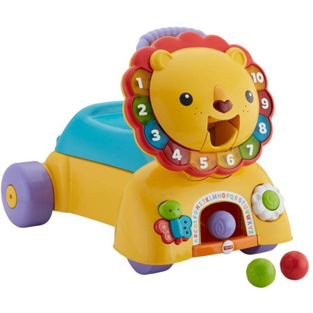 - Fisher-Price 3-in-1 Sit, Stride & Ride Interactive Lion