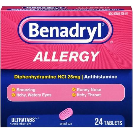 6 Pack - Benadryl Allergy Relief Ultratab Tablets 24 ea (Benadryl Allergy Ultratabs)