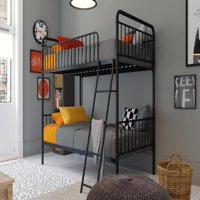 Better Homes and Gardens Kelsey Twin over Twin Metal Bunk Bed, Multiple Colors