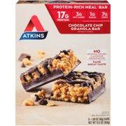 Atkins Chocolate Chip Granola Bar, 1.7oz, 8-pack (Meal Replacement)