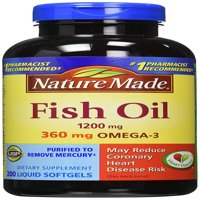 Nature Made Omega-3 Fish Oil Softgels, 1200 Mg, 200 Ct