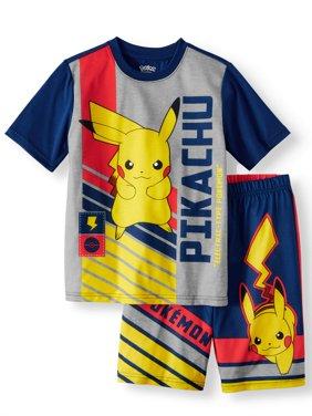Boys' Pokemon 2 Piece Pajama Sleep Set (Little Boy & Big Boy)